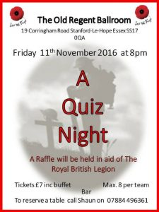 Quiz Night @ The Old Regent | Stanford-le-Hope | England | United Kingdom