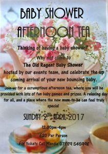 Baby Shower Afternoon Event at The Old Regent @ The Old Regent | England | United Kingdom