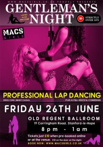 Gentlemans Night @ The Old Regent Ballroom | Stanford-le-Hope | United Kingdom