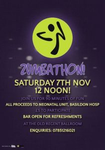 Zumbathon All Proceeds to Basildon Hospital Neonatal Unit @ The Old Regent Ballroom | Stanford-le-Hope | United Kingdom