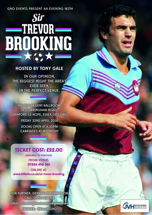 An Evening with Sir Trevor Brooking @ The Old Regent Ballroom | Stanford-le-Hope | United Kingdom
