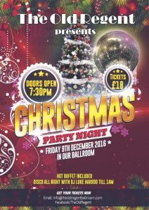 *SOLD OUT* Friday 9th December 2016. Upstairs Ballroom Christmas Party with DJ Luke @ The Old Regent | Stanford-le-Hope | England | United Kingdom
