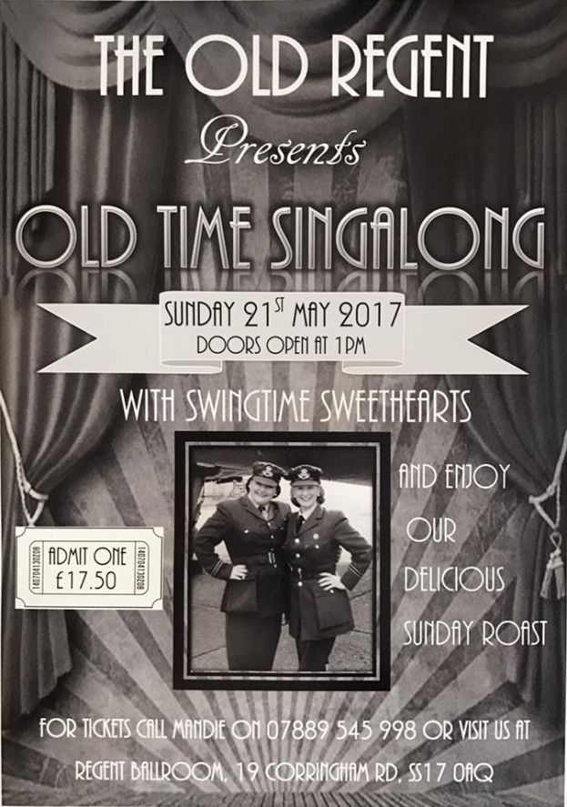 Old Time Singalong with Swingtime Sweethearts and Roast Dinner. @ The Old Regent | England | United Kingdom
