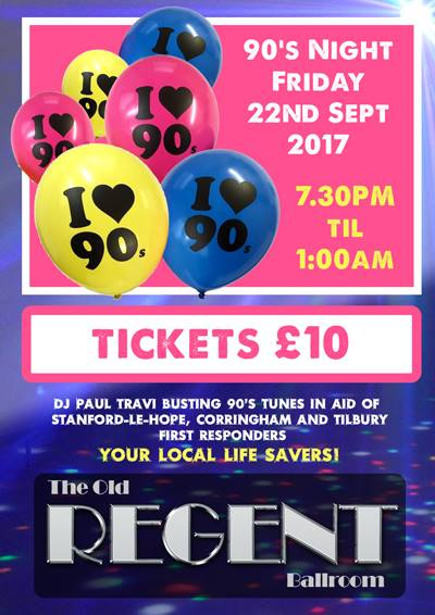 90's Party night. Love 90's? Love dancing? In aid of our First Responders. @ The Old Regent | England | United Kingdom
