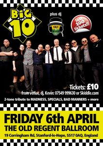 The Big 10 & Madness Tribute Full details to follow @ The Old Regent | England | United Kingdom