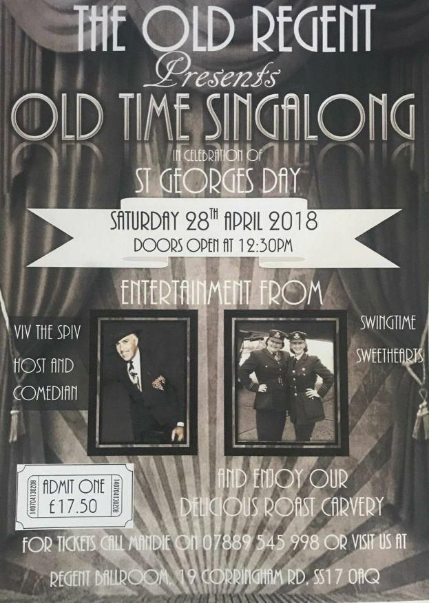 Event is now Sold Out * St Georges Day Afternoon Old Time Singalong @ The Old Regent | England | United Kingdom