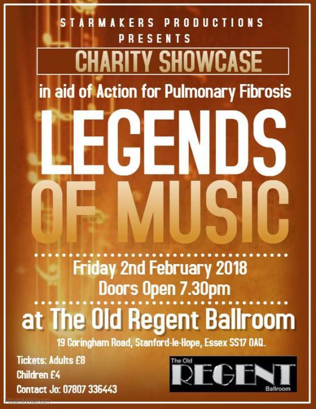 SOLD OUT Starmakers Productions Fundraising showcase. Legends of Music @ The Old Regent | England | United Kingdom