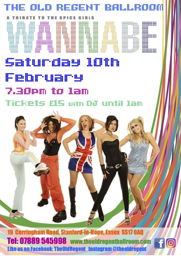 Spice Girls Tribute night. Live performance and DJ till 1am @ The Old Regent | England | United Kingdom