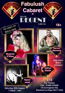 Fabulush Cabaret at The Regent @ The Old Regent | England | United Kingdom