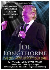Joe Longthorne with his band. 50th Anniversary tour @ The Old Regent | England | United Kingdom