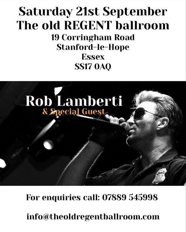 Sold Out Rob Lamberti THE number one tribute to George Michael @ The Old regent