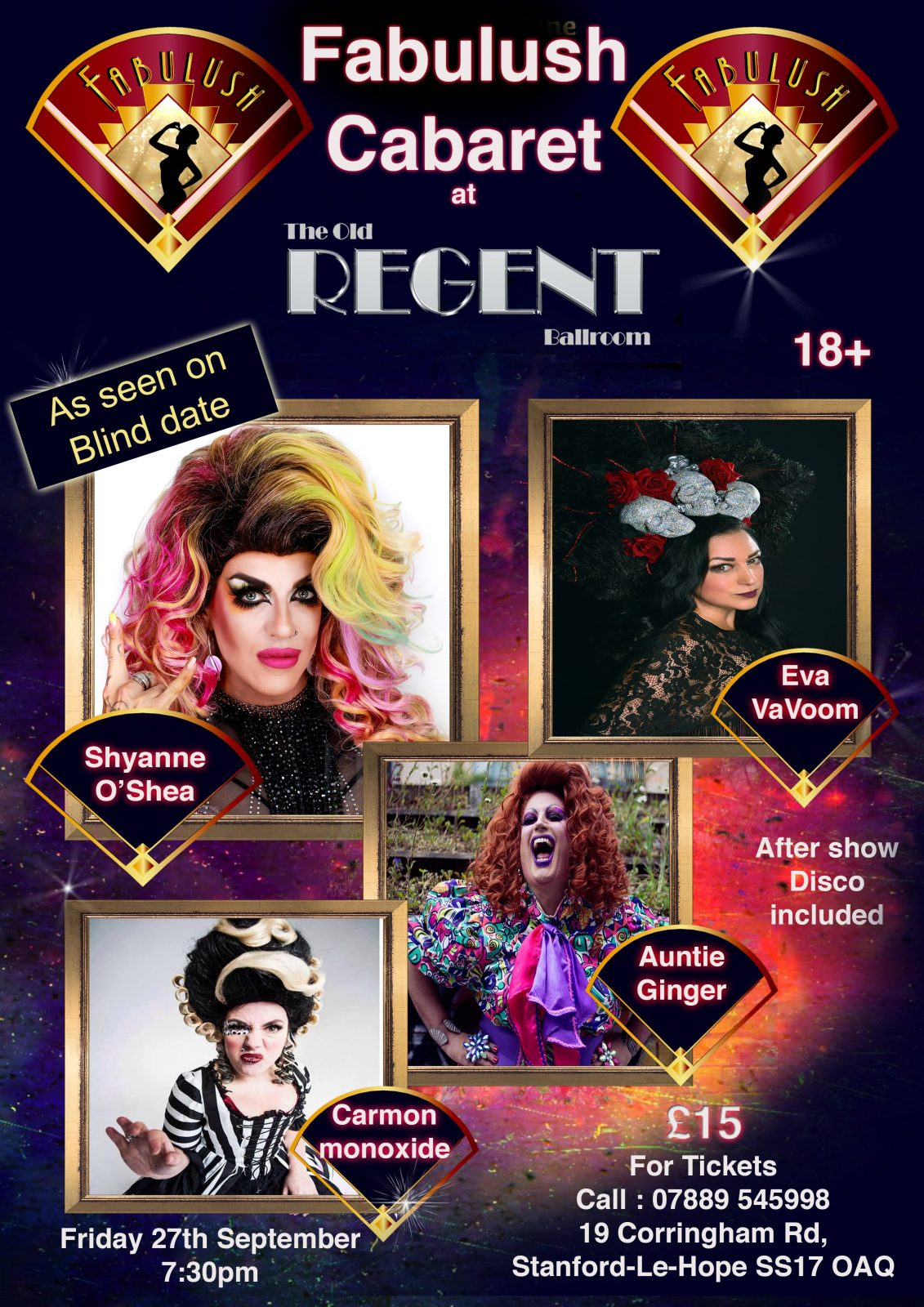 Fabulush Cabaret with Shyanne O Shea and guests 27th September 2019 @ The Old Regent
